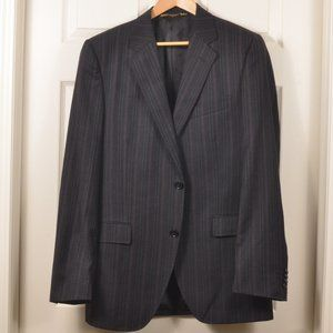 🇮🇹 Dolce&Gabbana 52R Suit Charcoal Pinstripe